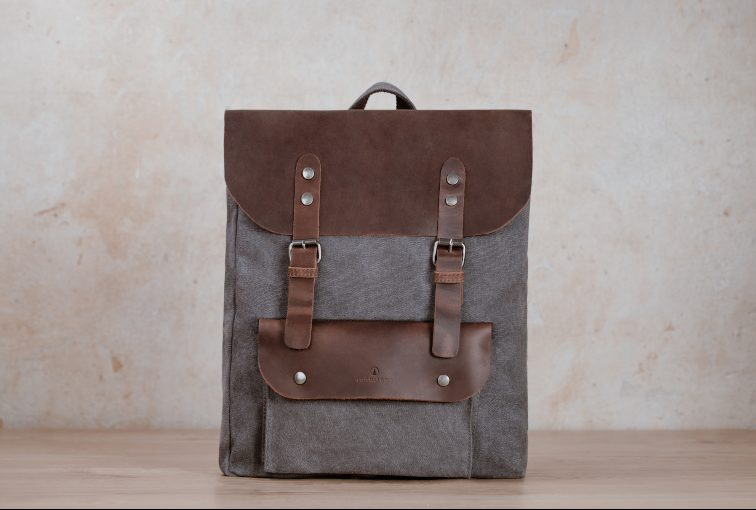 northern light backpack jasper grey canvas vintage