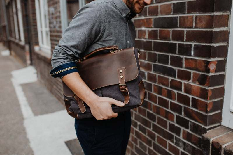 messenger laptoptasche grau