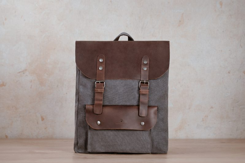 northern light backpack bags canvas leather01
