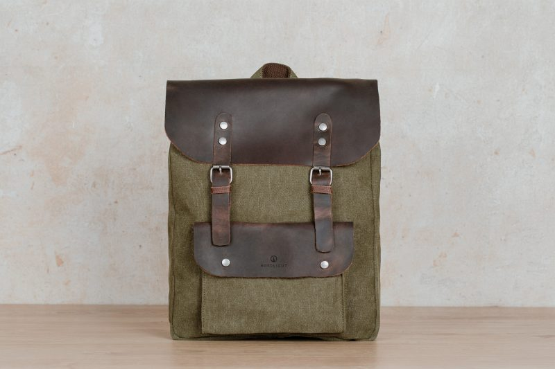 Nordlicht bag backpack sailcloth canvas leather