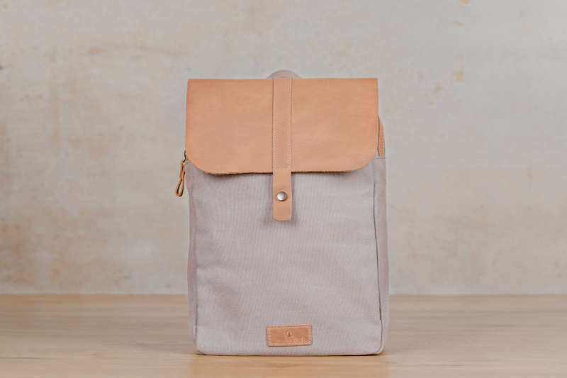 friis light grey canvas backpack