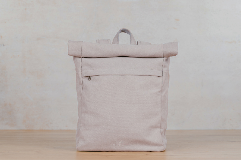 kona backpack light grey canvas
