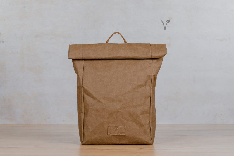 paper backpack northern light dark brown
