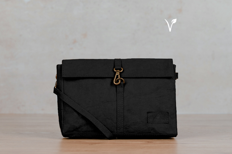 mila paper bag black