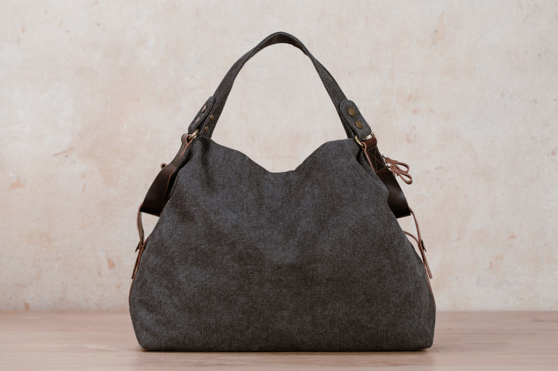 jarla granite shoulder bag northern light canvas leather