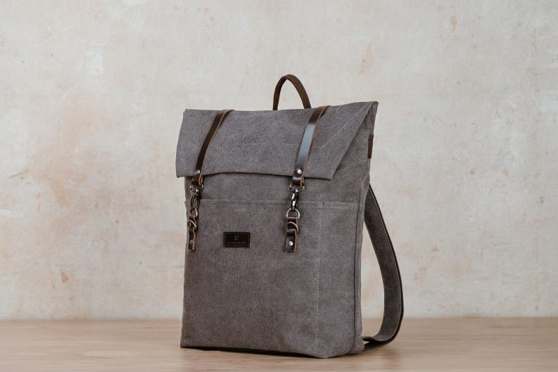jonte backpack northern light grey canvas vintage backpack
