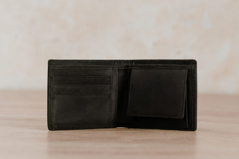 kito black purse northern light leather