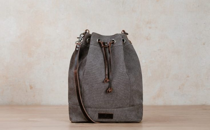 janna bag canvas Nordlicht grey backpack bag