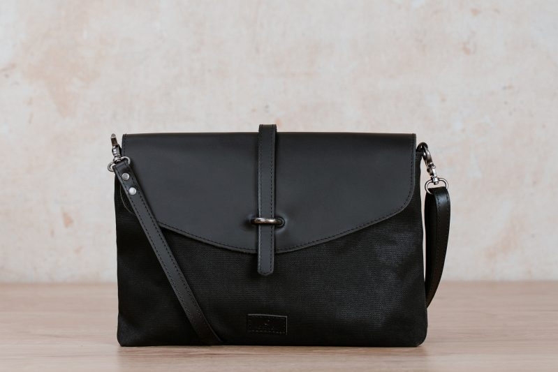 kaia handbag black Nordlicht canvas leather