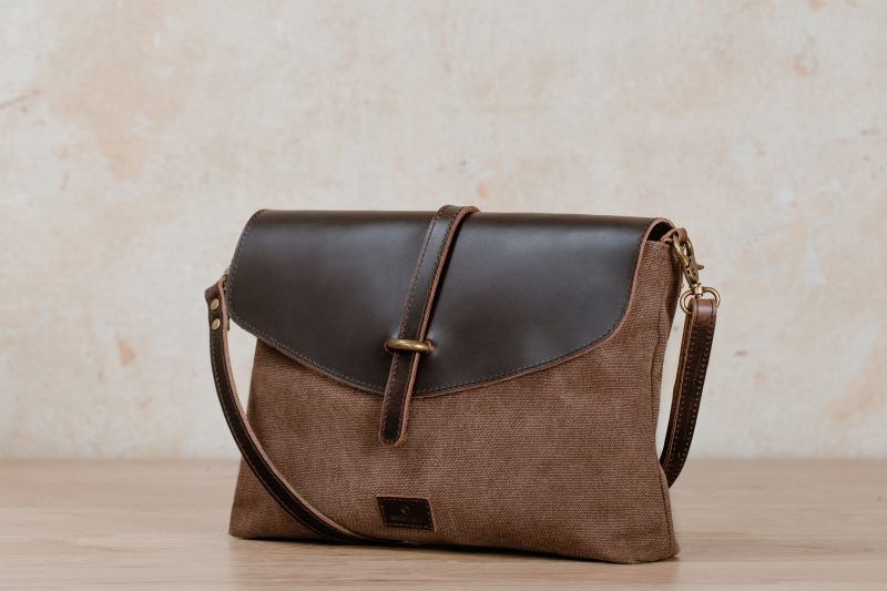 kaia handbag brown Nordlicht canvas