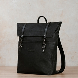 jonte black backpack sailcloth
